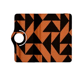 Brown Triangles Background Kindle Fire HDX 8.9  Flip 360 Case