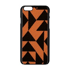 Brown Triangles Background Apple iPhone 6/6S Black Enamel Case