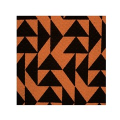 Brown Triangles Background Small Satin Scarf (Square)