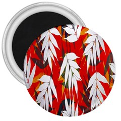 Leaves Pattern Background Pattern 3  Magnets