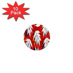 Leaves Pattern Background Pattern 1  Mini Magnet (10 pack)