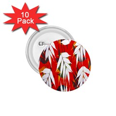 Leaves Pattern Background Pattern 1.75  Buttons (10 pack)