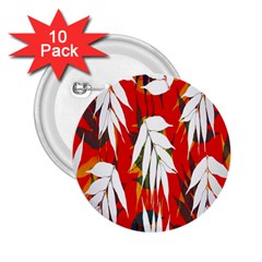 Leaves Pattern Background Pattern 2 25  Buttons (10 Pack)