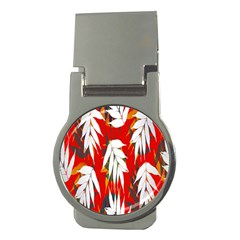 Leaves Pattern Background Pattern Money Clips (round)