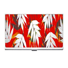 Leaves Pattern Background Pattern Business Card Holders