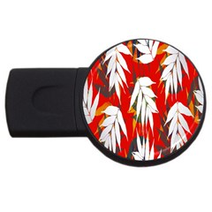 Leaves Pattern Background Pattern Usb Flash Drive Round (2 Gb)