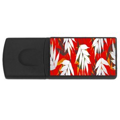 Leaves Pattern Background Pattern USB Flash Drive Rectangular (1 GB)