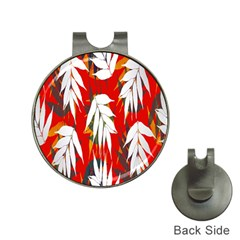 Leaves Pattern Background Pattern Hat Clips with Golf Markers