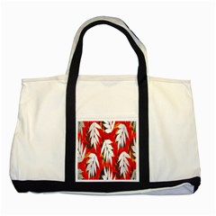 Leaves Pattern Background Pattern Two Tone Tote Bag