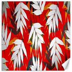 Leaves Pattern Background Pattern Canvas 16  X 16