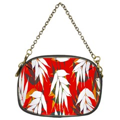 Leaves Pattern Background Pattern Chain Purses (two Sides)