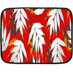 Leaves Pattern Background Pattern Fleece Blanket (Mini)