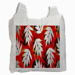 Leaves Pattern Background Pattern Recycle Bag (one Side)