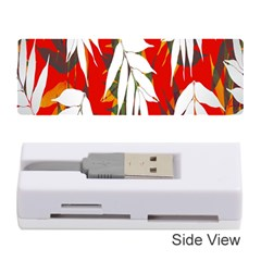 Leaves Pattern Background Pattern Memory Card Reader (stick)
