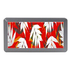 Leaves Pattern Background Pattern Memory Card Reader (Mini)