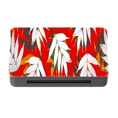 Leaves Pattern Background Pattern Memory Card Reader with CF