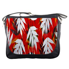 Leaves Pattern Background Pattern Messenger Bags