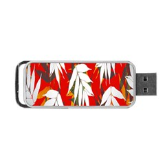 Leaves Pattern Background Pattern Portable USB Flash (One Side)