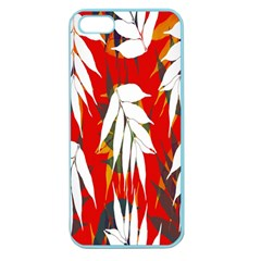 Leaves Pattern Background Pattern Apple Seamless Iphone 5 Case (color)