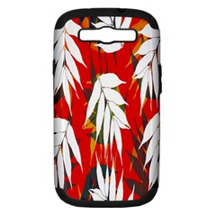 Leaves Pattern Background Pattern Samsung Galaxy S Iii Hardshell Case (pc+silicone)