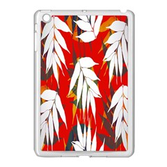 Leaves Pattern Background Pattern Apple iPad Mini Case (White)