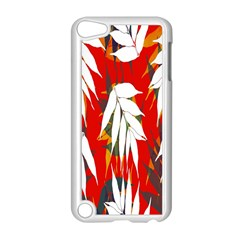 Leaves Pattern Background Pattern Apple iPod Touch 5 Case (White)