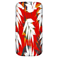 Leaves Pattern Background Pattern Samsung Galaxy S3 S Iii Classic Hardshell Back Case