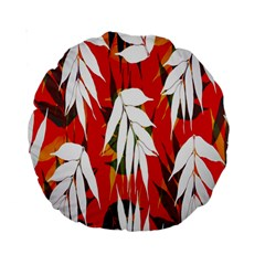 Leaves Pattern Background Pattern Standard 15  Premium Round Cushions