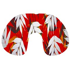 Leaves Pattern Background Pattern Travel Neck Pillows