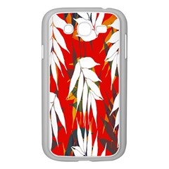 Leaves Pattern Background Pattern Samsung Galaxy Grand DUOS I9082 Case (White)