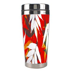 Leaves Pattern Background Pattern Stainless Steel Travel Tumblers