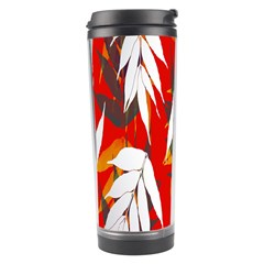 Leaves Pattern Background Pattern Travel Tumbler