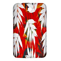 Leaves Pattern Background Pattern Samsung Galaxy Tab 3 (7 ) P3200 Hardshell Case