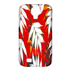 Leaves Pattern Background Pattern Samsung Galaxy S4 Classic Hardshell Case (pc+silicone)
