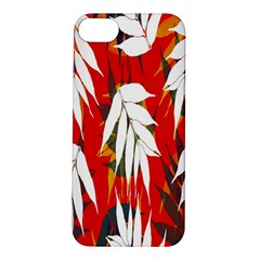 Leaves Pattern Background Pattern Apple iPhone 5S/ SE Hardshell Case
