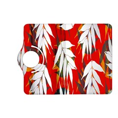 Leaves Pattern Background Pattern Kindle Fire HD (2013) Flip 360 Case