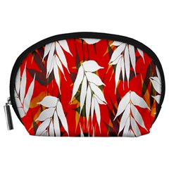 Leaves Pattern Background Pattern Accessory Pouches (large)