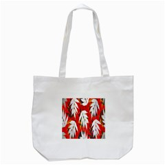 Leaves Pattern Background Pattern Tote Bag (White)