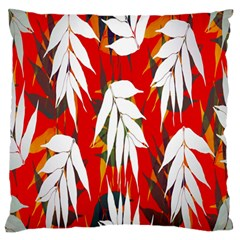 Leaves Pattern Background Pattern Large Flano Cushion Case (One Side)