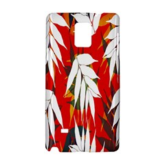 Leaves Pattern Background Pattern Samsung Galaxy Note 4 Hardshell Case