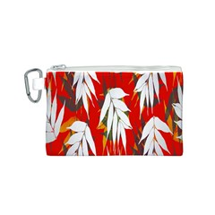 Leaves Pattern Background Pattern Canvas Cosmetic Bag (S)