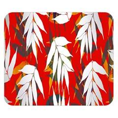 Leaves Pattern Background Pattern Double Sided Flano Blanket (Small)