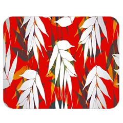 Leaves Pattern Background Pattern Double Sided Flano Blanket (Medium)