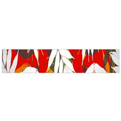 Leaves Pattern Background Pattern Flano Scarf (small)