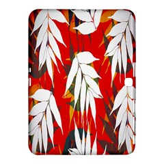 Leaves Pattern Background Pattern Samsung Galaxy Tab 4 (10.1 ) Hardshell Case