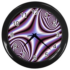 Fractal Background With Curves Created From Checkboard Wall Clocks (black)