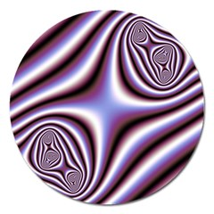 Fractal Background With Curves Created From Checkboard Magnet 5  (round)