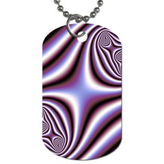 Fractal Background With Curves Created From Checkboard Dog Tag (One Side)
