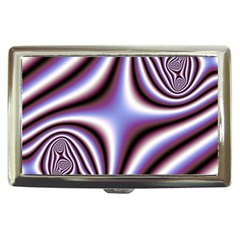 Fractal Background With Curves Created From Checkboard Cigarette Money Cases