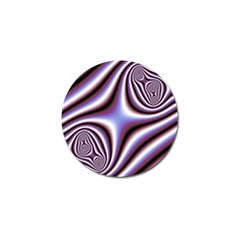 Fractal Background With Curves Created From Checkboard Golf Ball Marker (4 Pack)